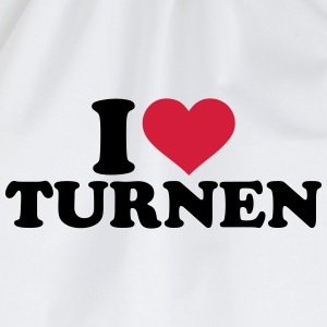I love Turnen T-Shirts - Turnbeutel