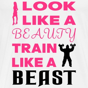 Beauty Beast - Mannen Premium T-shirt