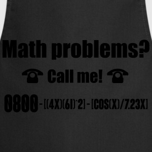 Math problems? Call me! nerd shirt T-Shirts - Cooking Apron