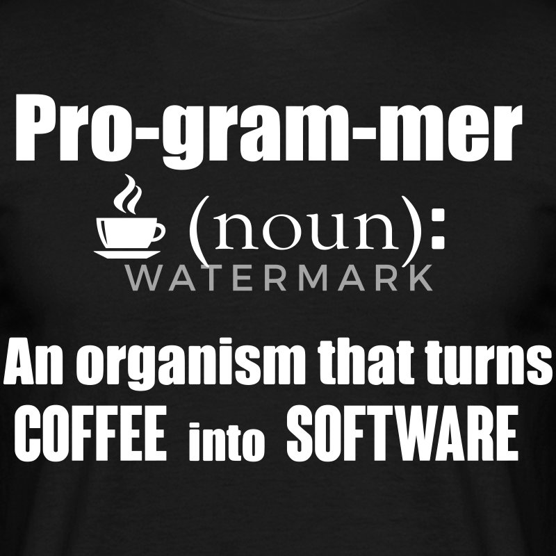 Programmer: organism that turns coffee info code T-Shirts - Men's T-Shirt