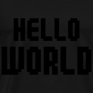 Hello World Baby Bodysuits - Men's Premium T-Shirt