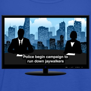 TV news - Jaywalkers T-Shirts - Women's Tank Top by Bella