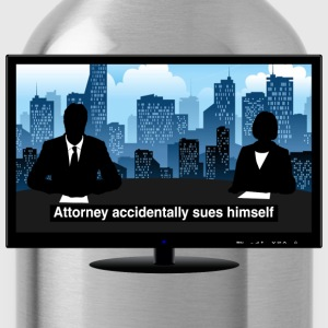 TV news - Attorney T-Shirts - Water Bottle