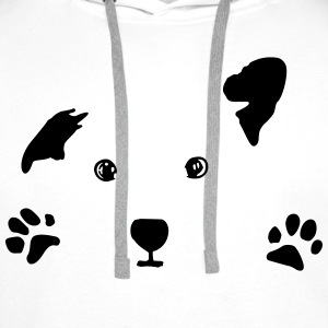 dog, puppy, dog face Shirts - Men's Premium Hoodie