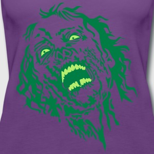 zombie face 2 T-Shirts - Frauen Premium Tank Top