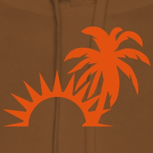 Palm trees sun 1409 T-Shirts - Women's Premium Hoodie