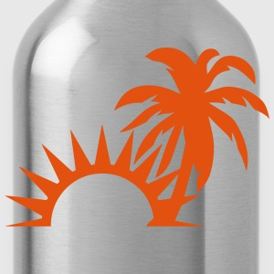 Palm trees sun 1409 T-Shirts - Water Bottle
