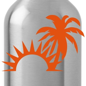 Palm trees sun 1409 Sports wear - Water Bottle
