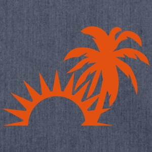 Palm trees sun 1409 Sports wear - Shoulder Bag made from recycled material