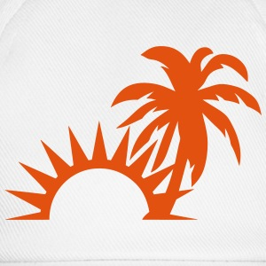 Palm trees sun 1409 Tops - Baseball Cap