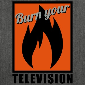 Burn your Television T-Shirts - Schultertasche aus Recycling-Material