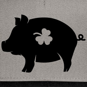 little pig with shamrock Hoodies - Snapback Cap