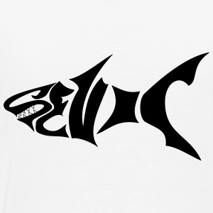 Requin Noir  Dents Tröjor - Premium-T-shirt herr