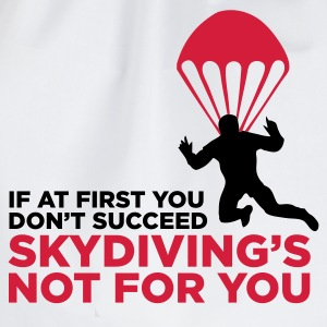 Skydiving is not for the unlucky ones. T-Shirts - Drawstring Bag