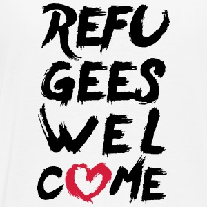Refugees welcome (with heart) Hoodie - Männer Premium T-Shirt