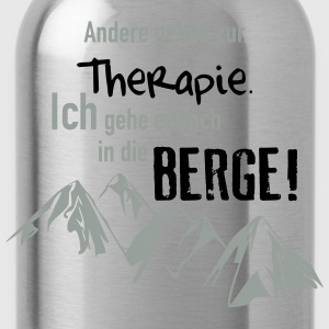 Therapie Berge T-Shirts - Trinkflasche