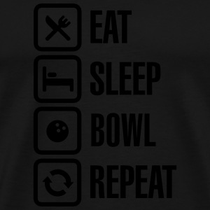 Eat -  sleep - bowl - repeat Langarmshirts - Männer Premium T-Shirt