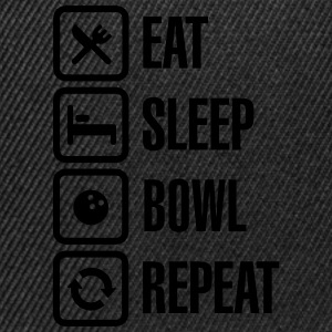 Eat -  sleep - bowl - repeat Langarmshirts - Snapback Cap