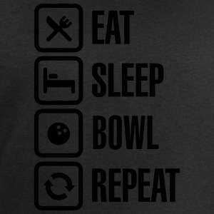 Eat - sleep - bowl - repeat (Bowlen) T-shirts - Mannen sweatshirt van Stanley & Stella