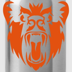 Bear head open mouth tooth fierce 110 Shirts - Water Bottle