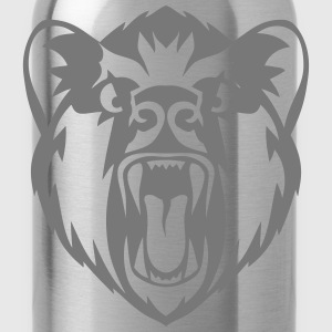 Bear head open mouth tooth fierce  110 Tops - Water Bottle