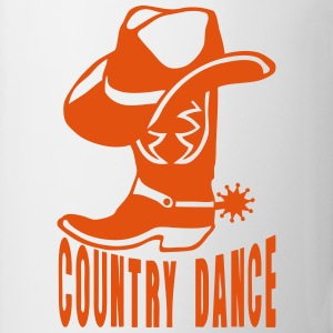 cowboys country dance botte chapeau 2 Manches longues - Tasse