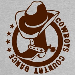 cowboys country dance botte chapeau logo Tee shirts - T-shirt Bébé