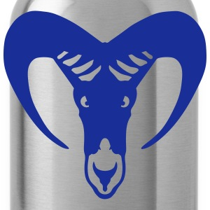 Capricorn horn animal head 70923 Tops - Water Bottle