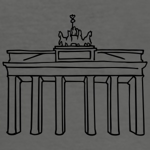 Brandenburg Gate in Berlin Bags & Backpacks - Men's Slim Fit T-Shirt