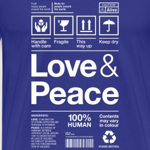 love peace packaging label Versandetikett human - Männer Premium T-Shirt