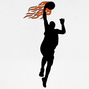 Basketball on fire T-shirts - Basebollkeps