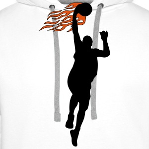 Basketball on fire T-shirts - Premiumluvtröja herr