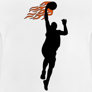 Basketball on fire T-shirts - Baby-T-shirt