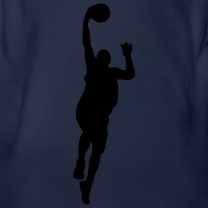 Basketball Shirts - Organic Short-sleeved Baby Bodysuit