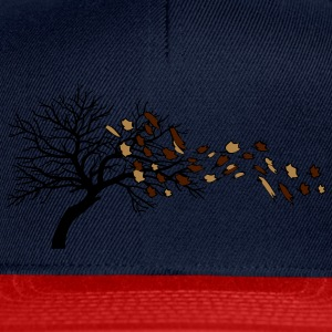 Autumn leaves tree wind T-Shirts - Snapback Cap