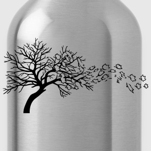 Autumn leaves tree wind T-Shirts - Water Bottle