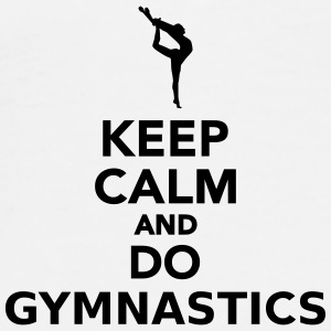 Keep calm and do gymnastics Tassen & Zubehör - Männer Premium T-Shirt