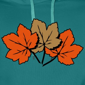 Autumn leaves melancholy art T-Shirts - Men's Premium Hoodie