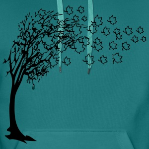 Autumn tree leaves T-Shirts - Men's Premium Hoodie