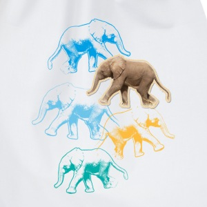 Animal Planet elefant babybody - Gymnastikpåse