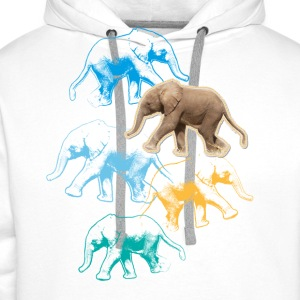 Animal Planet elefant babybody - Premiumluvtröja herr