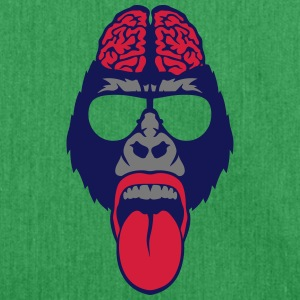 Gorilla brain tongue brain  T-Shirts - Shoulder Bag made from recycled material