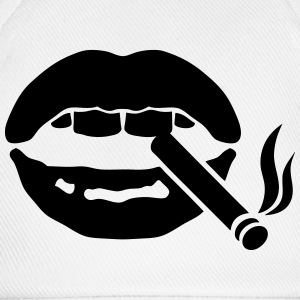 Icon smoke cigarette mouth  Aprons - Baseball Cap