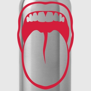 Tongue drawn mouth tooth 3108 T-Shirts - Water Bottle