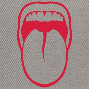 Tongue drawn mouth tooth 3108 T-Shirts - Snapback Cap