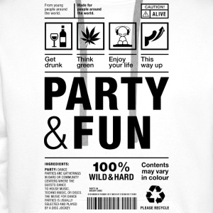Party Fun packaging label Dope Versandetikett Alk - Männer Premium Hoodie