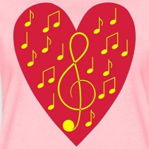Sweatshirt with music in the heart - Women's Premium T-Shirt