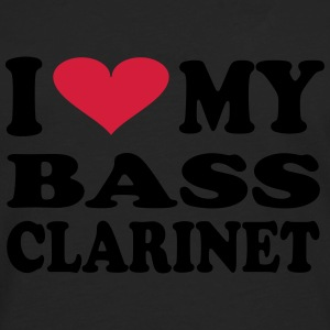 I Love my Bass Clarinet - Premium langermet T-skjorte for menn