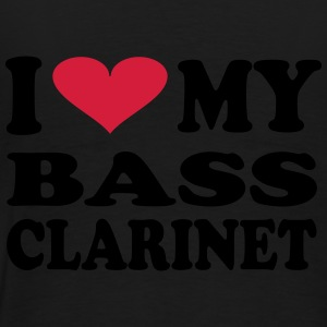 I love my Bass Clarinet - Premium T-skjorte for menn