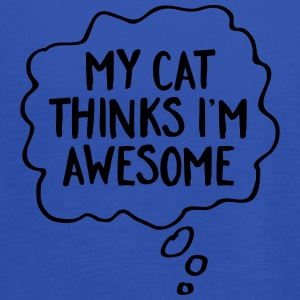My Cat Thinks I'm Awesome T-skjorter - Singlet for kvinner fra Bella